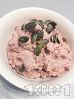 Вкусен десерт с варена бланширана елда, извара, какао и семена (тиквени семки, ленено семе) - снимка на рецептата